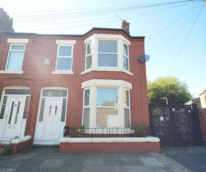 3 Bedrooms End Of Terrace House for sale in Stormont Road, Liverpool