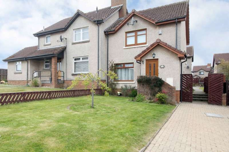 2 Bedrooms Semi-detached Villa House for sale in Duffy Place, Rosyth, Dunfermline, Fife, KY11 2DE
