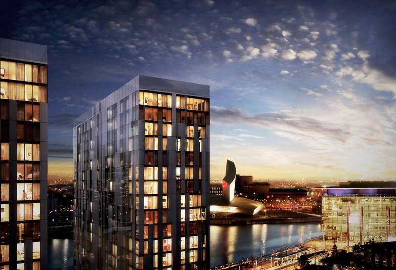 2 Bedrooms Flat for sale in Media City, Salford Quays