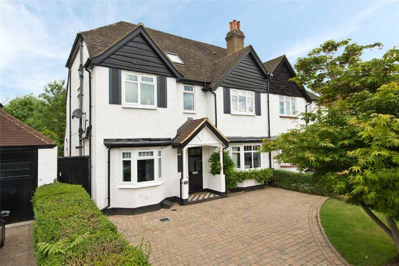 5 Bedrooms Semi Detached House for sale in Woodside Avenue, Esher, Surrey, KT10