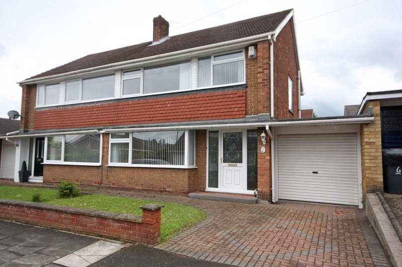 3 Bedrooms Semi Detached House for sale in Leven Avenue, Garden Farm, Chester-le-Street DH2 3EZ