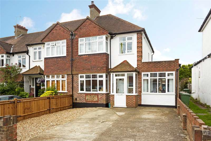 4 Bedrooms Semi Detached House for sale in Yew Tree Gardens, Epsom, Surrey, KT18