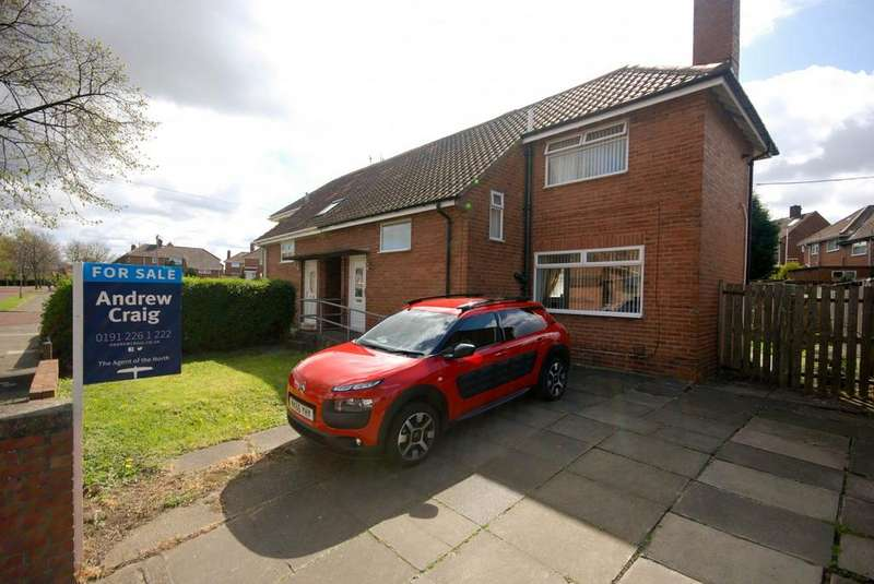 2 Bedrooms Semi Detached House for sale in Cheviot Gardens, Lobley Hill