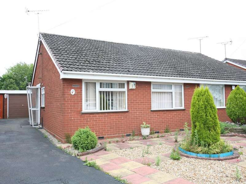 2 Bedrooms Semi Detached Bungalow for sale in 49 Langdale Drive, Cannock, WS11 1QU