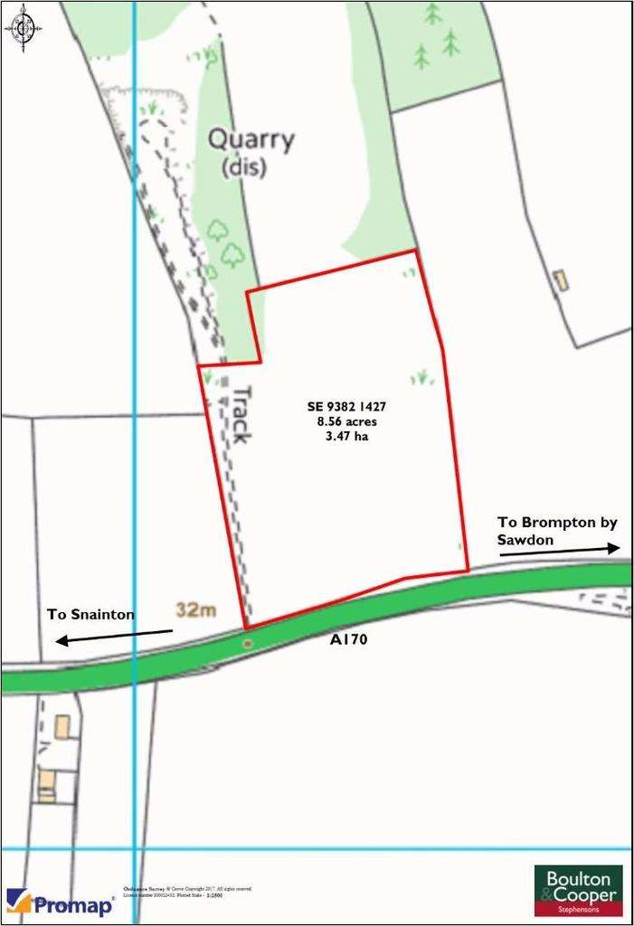 Land Commercial for sale in Pickering Road East, Wydale, Snainton, Scarborough