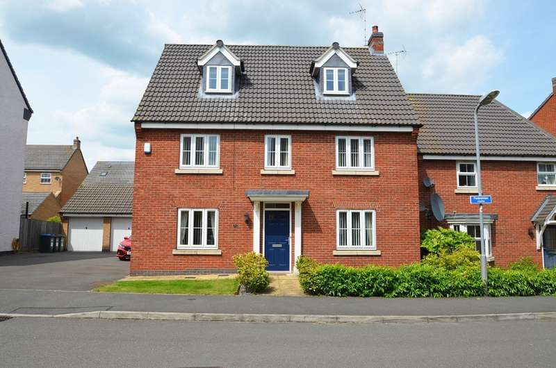 5 Bedrooms Detached House for sale in Crackthorne Drive, Coton Park, Rugby