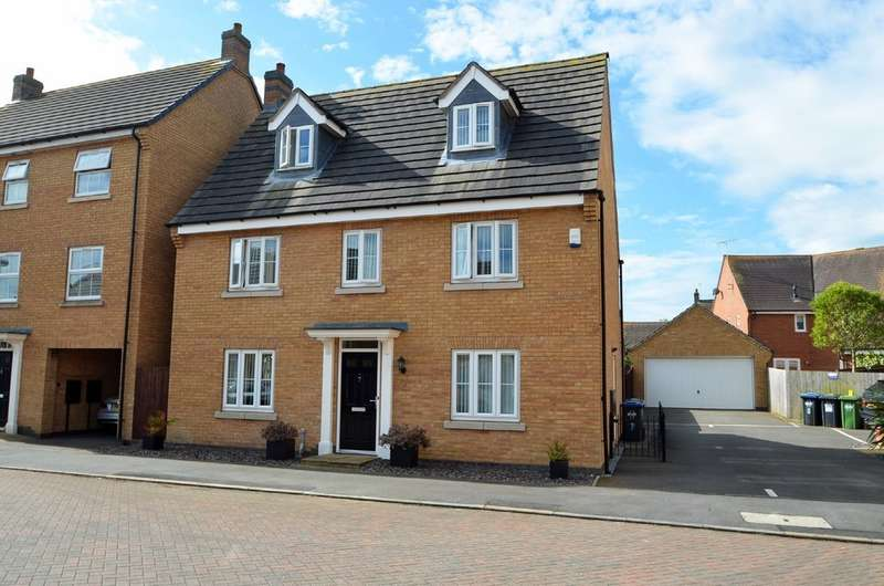 5 Bedrooms Detached House for sale in Spellow Close, Coton Meadows, Rugby
