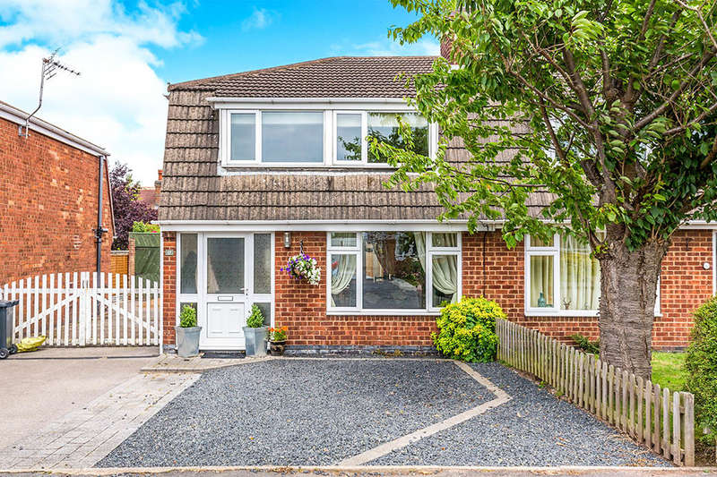 3 Bedrooms Semi Detached House for sale in Vicarage Close, Newbold Coleorton, Coalville, LE67
