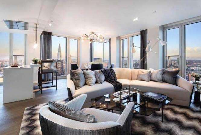 3 Bedrooms Apartment Flat for sale in South Bank Tower, Southwark