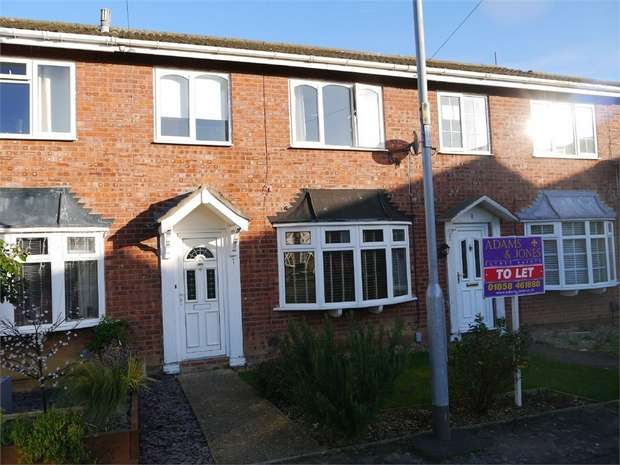 3 Bedrooms Terraced House for sale in Harrison Close, Market Harborough, Leicestershire