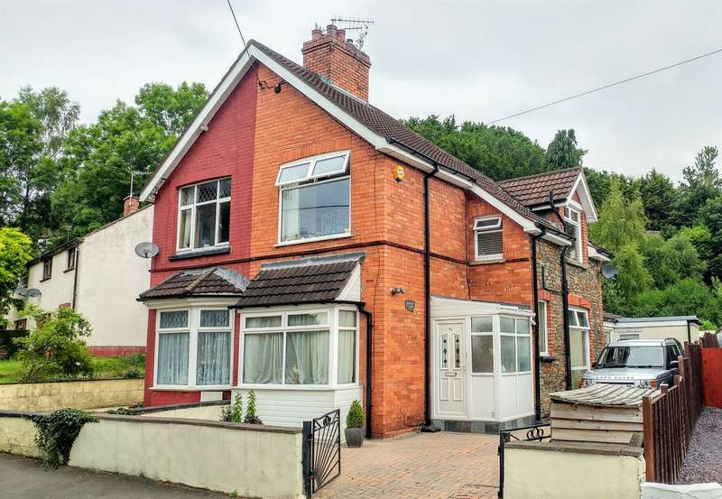 2 Bedrooms Semi Detached House for sale in Ffwrwm Road, Machen, Caerphilly