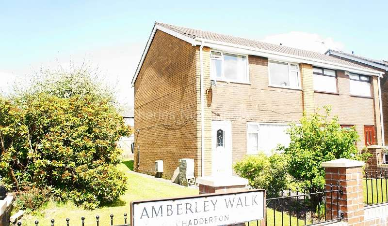 3 Bedrooms Semi Detached House for sale in Amberley Walk, Chadderton, Oldham, Greater Manchester. OL9 6SL
