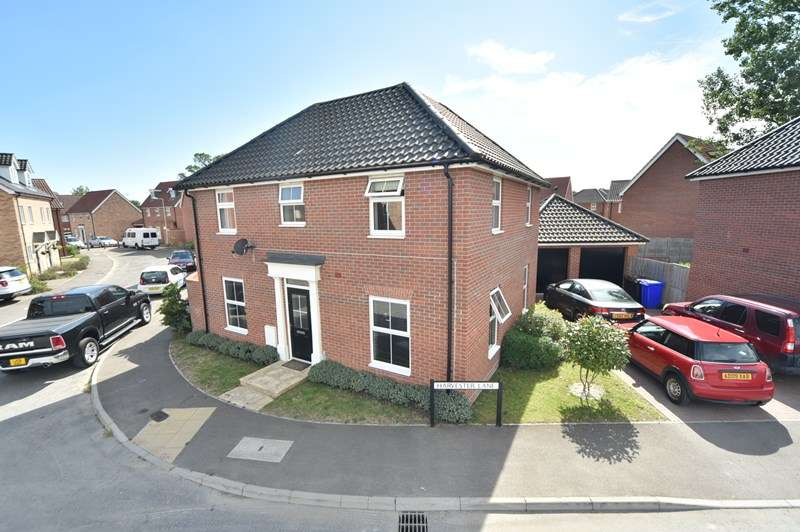 4 Bedrooms Detached House for sale in Harvester Lane, Beck Row, Bury St. Edmunds