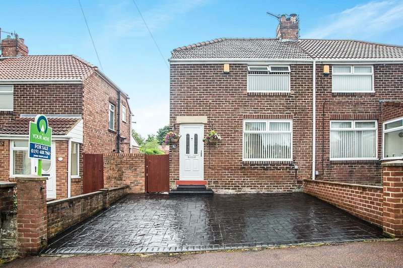 2 Bedrooms Semi Detached House for sale in Knightside Gardens, Dunston, Gateshead, NE11