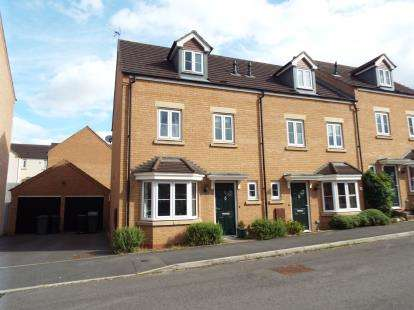 4 Bedrooms End Of Terrace House for sale in Dixon Close, Enfield, Redditch, Worcestershire