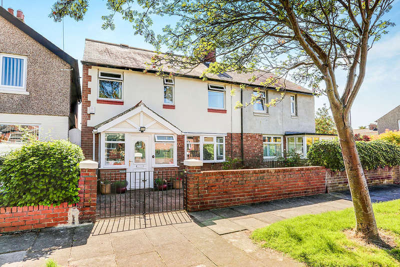 3 Bedrooms Semi Detached House for sale in Whitley Road, Wellfield, Whitley Bay, NE25