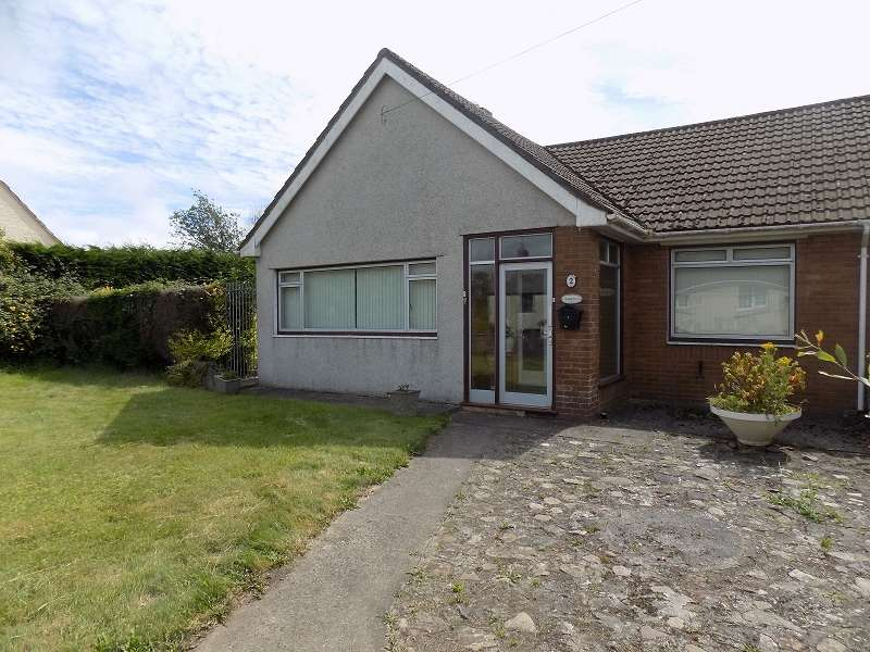 2 Bedrooms Semi Detached Bungalow for sale in Morwenna, Heol Las Villas, Maudlam, North Cornelly, Bridgend. CF33 4PL