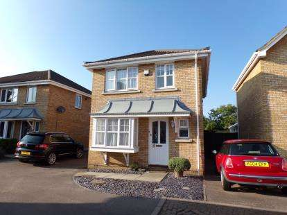3 Bedrooms Detached House for sale in Bryony Close, Bedford, Bedfordshire