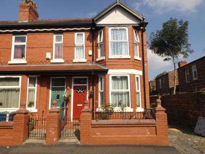 2 Bedrooms End Of Terrace House for sale in Alexandra Avenue, Manchester, Greater Manchester, Uk
