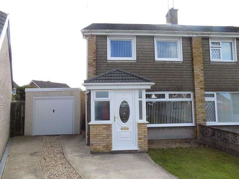 3 Bedrooms Semi Detached House for sale in Hall Close, North Cornelly, Bridgend. CF33 4EB