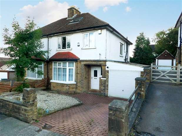 3 Bedrooms Semi Detached House for sale in Nab Wood Road, Nab Wood, Shipley