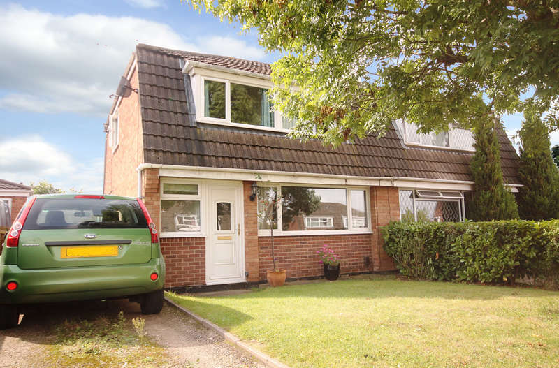 3 Bedrooms Semi Detached House for sale in Ferrers Close, Castle Donington