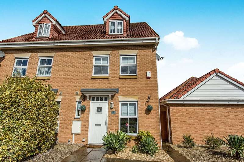 3 Bedrooms Semi Detached House for sale in Trevorrow Crescent, Chesterfield, S40