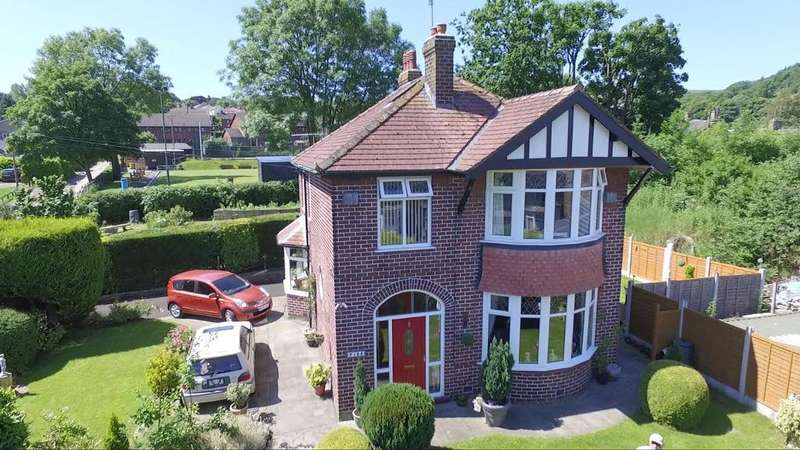 3 Bedrooms Detached House for sale in Buxton Road, Furness Vale, High Peak, Derbyshire, SK23 7PF