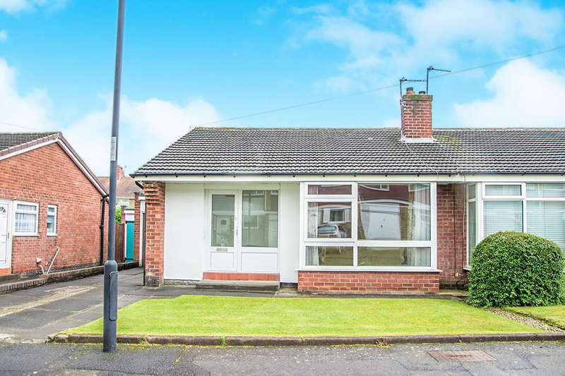 2 Bedrooms Semi Detached Bungalow for sale in Pilton Road, Westerhope, Newcastle Upon Tyne, NE5