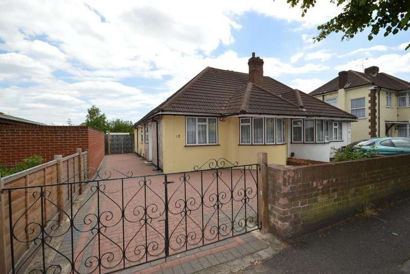 2 Bedrooms Semi Detached Bungalow for sale in St. Nicholas Avenue, Elm Park, Hornchurch, Essex, RM12