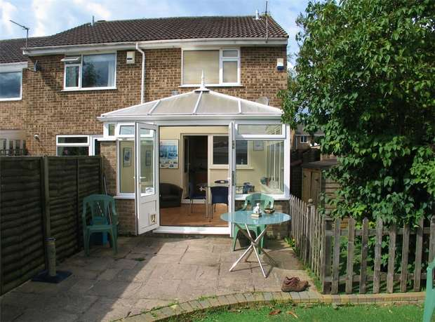 2 Bedrooms End Of Terrace House for sale in Cockerell Close, Merley, WIMBORNE, Dorset