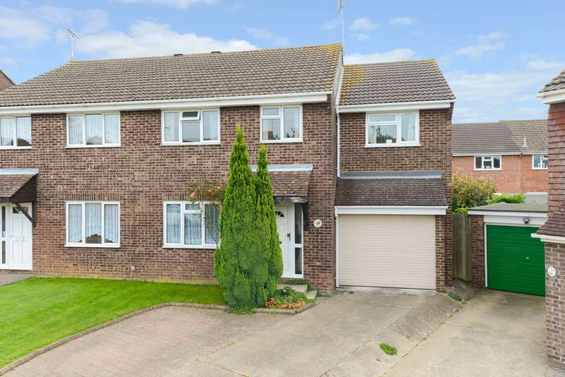 4 Bedrooms Semi Detached House for sale in Collard Road, Highfield Estate, Willesborough, Ashford, TN24