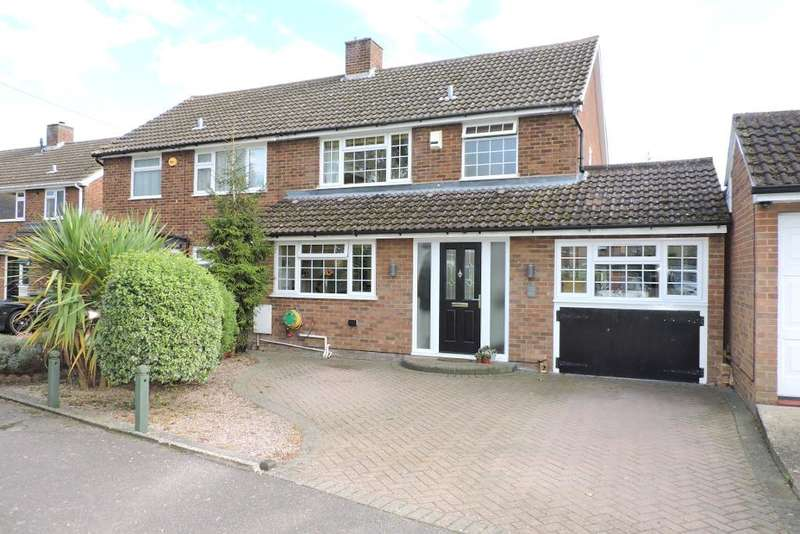 3 Bedrooms Semi Detached House for sale in Dane Road, Barton Le Clay, Bedfordshire, MK45 4QL