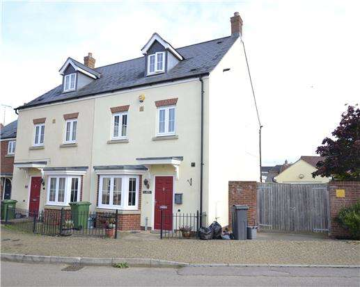 4 Bedrooms Town House for sale in Golden Arrow Way, Brockworth, Gloucester, GL3 4ED