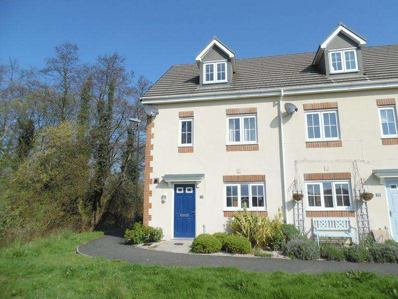 4 Bedrooms End Of Terrace House for sale in Heol Bryncethin Sarn Bridgend CF32 9GG
