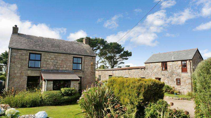 4 Bedrooms Farm House Character Property for sale in Sancreed, Penzance