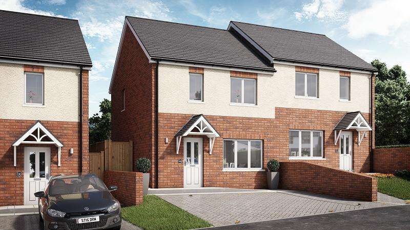 2 Bedrooms Semi Detached House for sale in Willow, Plot 13 Waunsterw , Rhydyfro, Pontardawe.