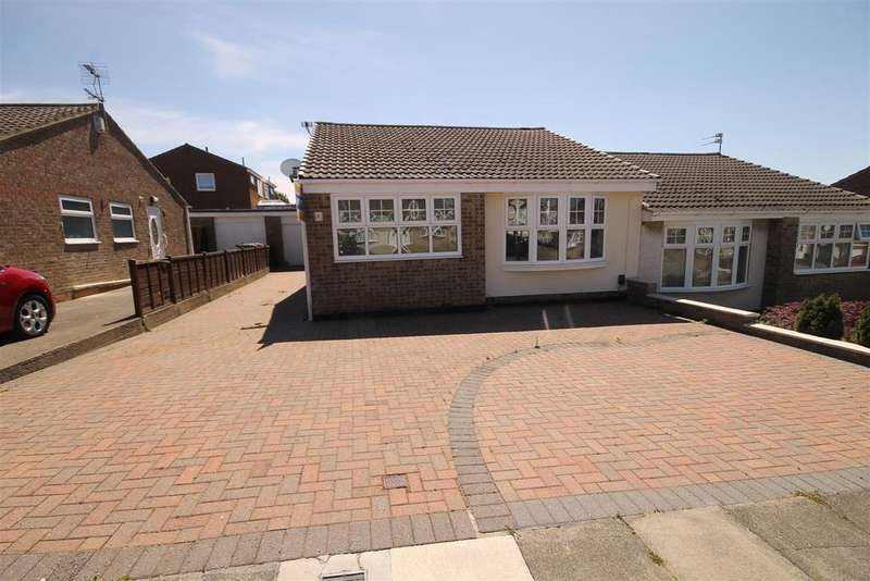 2 Bedrooms Semi Detached Bungalow for sale in Brandon Close, Hartlepool