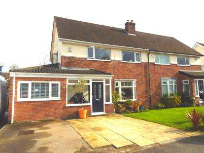 3 Bedrooms Semi Detached House for sale in Sephton Avenue, Culcheth, Warrington, Cheshire