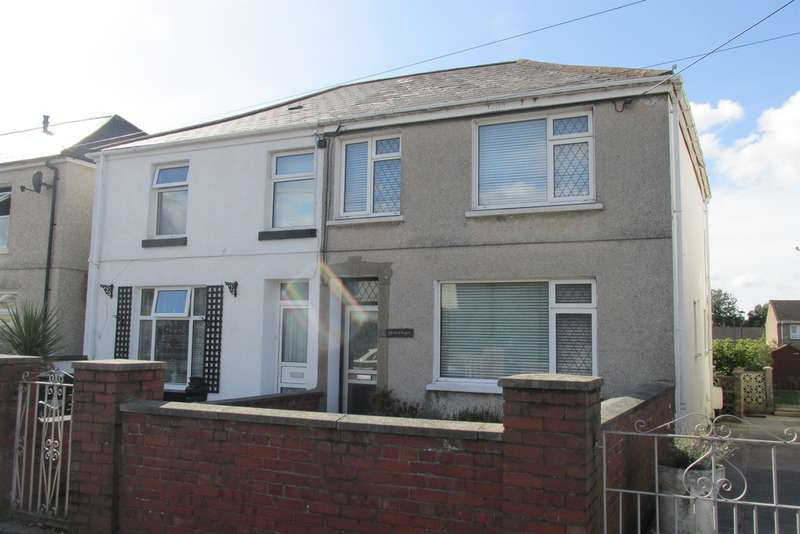 3 Bedrooms Semi Detached House for sale in Glynhir Road, Pontarddulais, Swansea