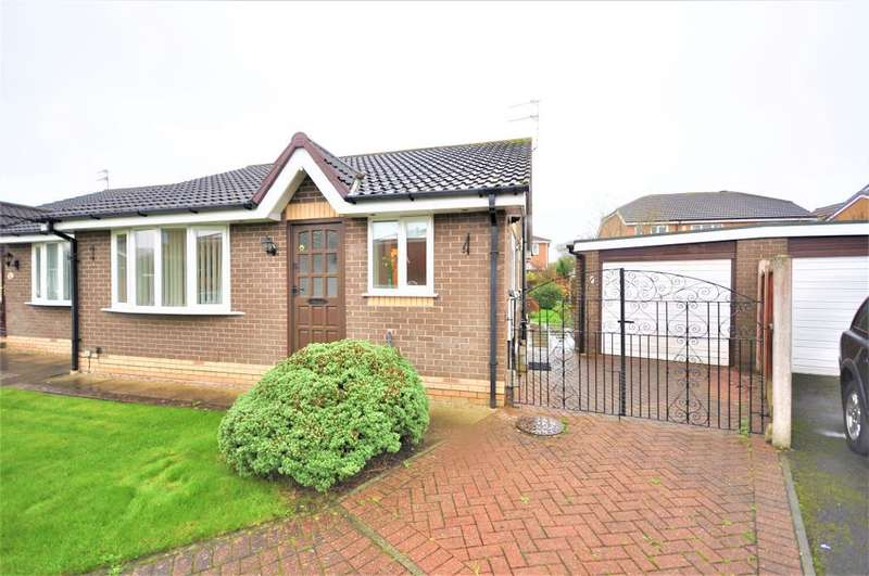 2 Bedrooms Semi Detached Bungalow for sale in Lochinch Close, South Shore, Blackpool, Lancashire, FY4 5NR