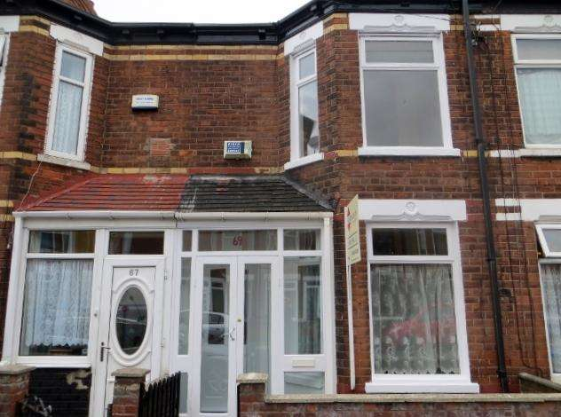 2 Bedrooms Terraced House for rent in Huntingdon Street, Hull, HU4 6QJ