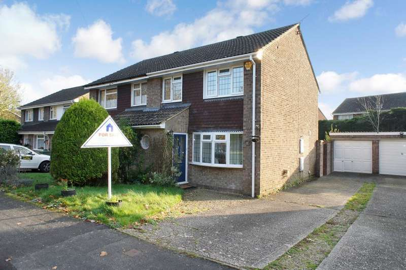 3 Bedrooms Semi Detached House for sale in Highland Drive, Oakley, Hampshire, RG23 7LF