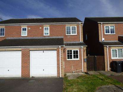 3 Bedrooms Semi Detached House for sale in Bek Close, New Houghton, Mansfield, Derbyshire