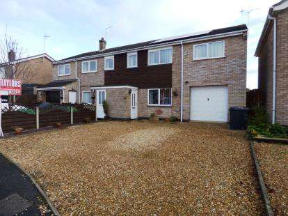 4 Bedrooms Semi Detached House for sale in Fernie Close, Newborough, Peterborough, Cambridgeshire