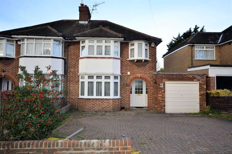 3 Bedrooms Semi Detached House for sale in Wykeham Hill, Wembley, Middlesex, HA9 9RY