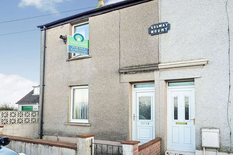 2 Bedrooms Semi Detached House for sale in Solway Mount, Crosby, MARYPORT, CA15