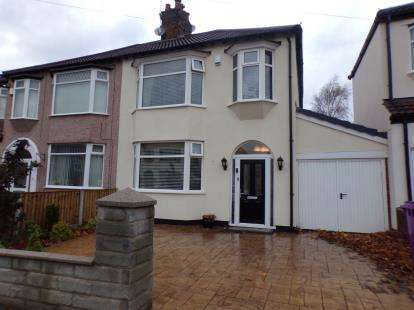 3 Bedrooms Semi Detached House for sale in Lammermoor Road, Mossley Hill, Liverpool, Merseyside, L18