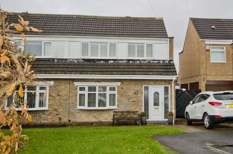 3 Bedrooms Semi Detached House for sale in Pendock Close, Middlesbrough, TS5 8HT