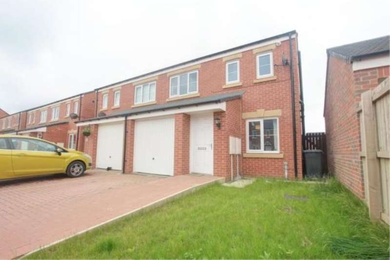3 Bedrooms Semi Detached House for sale in Gatcombe Way, Newfield, Chester Le Street, DH2